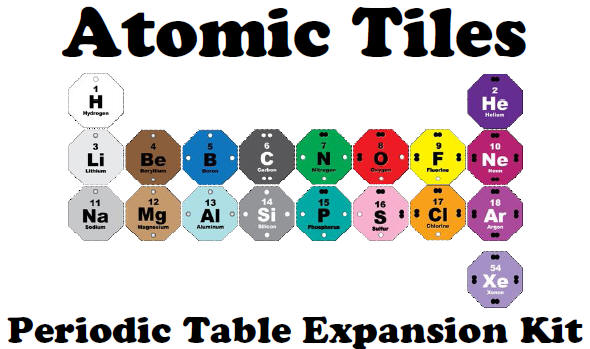 Atomic tiles tile sets the periodic table expansion set can be used with either an octet game set the molecule maker set or on its own with this set a student can build two urtaz Image collections